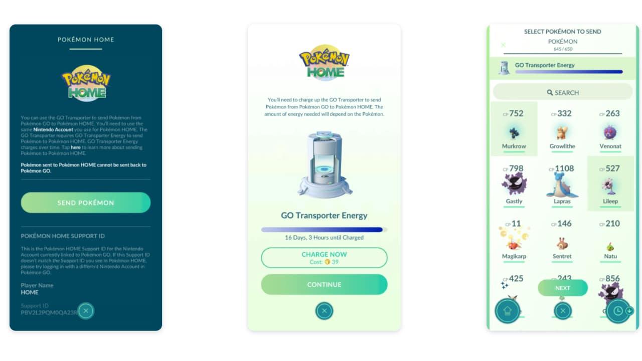 Pokémon Home in Pokémon GO