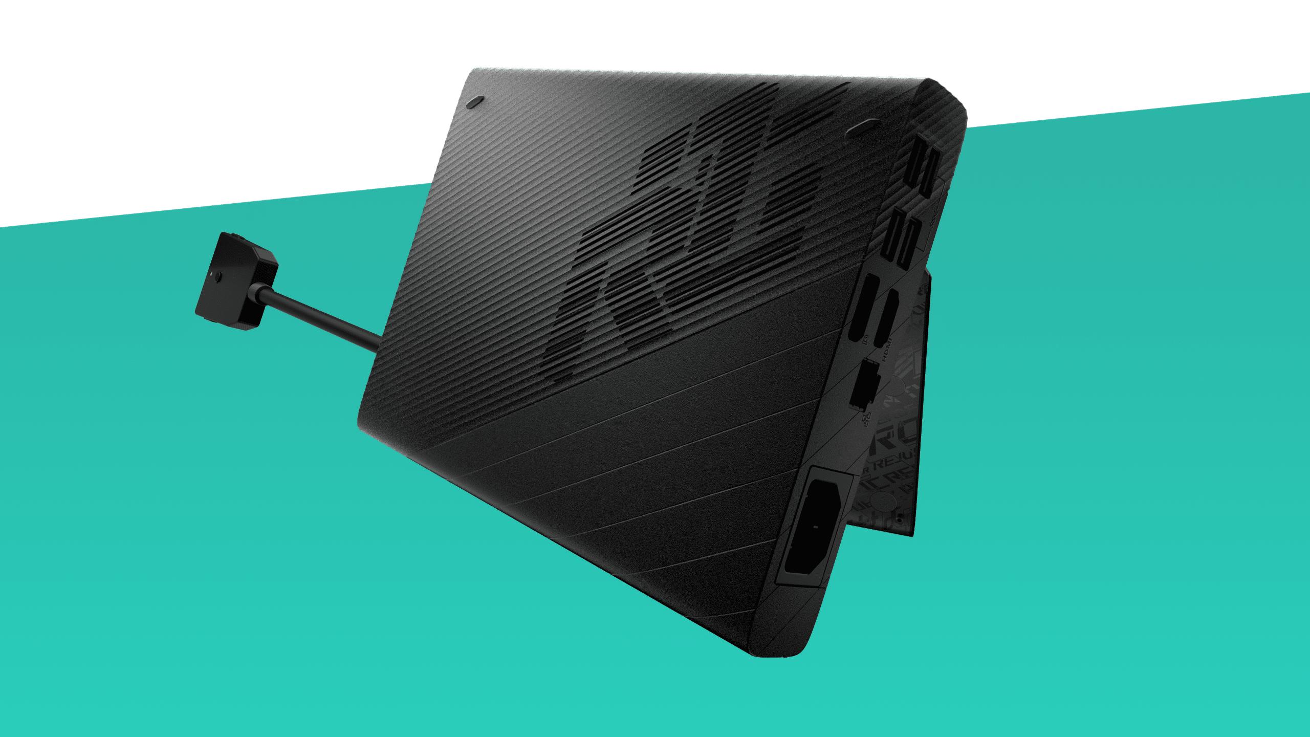 Productfoto van de Asus ROG XG Mobile eGPU, bedoeld als versterking voor de ROG Flow X13-ultrabooks..