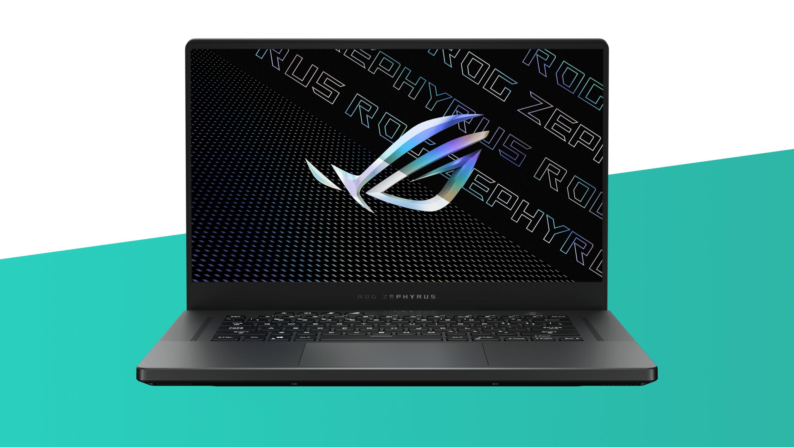 Vooraanzicht van de ROG Zephyrus G15 laptop.