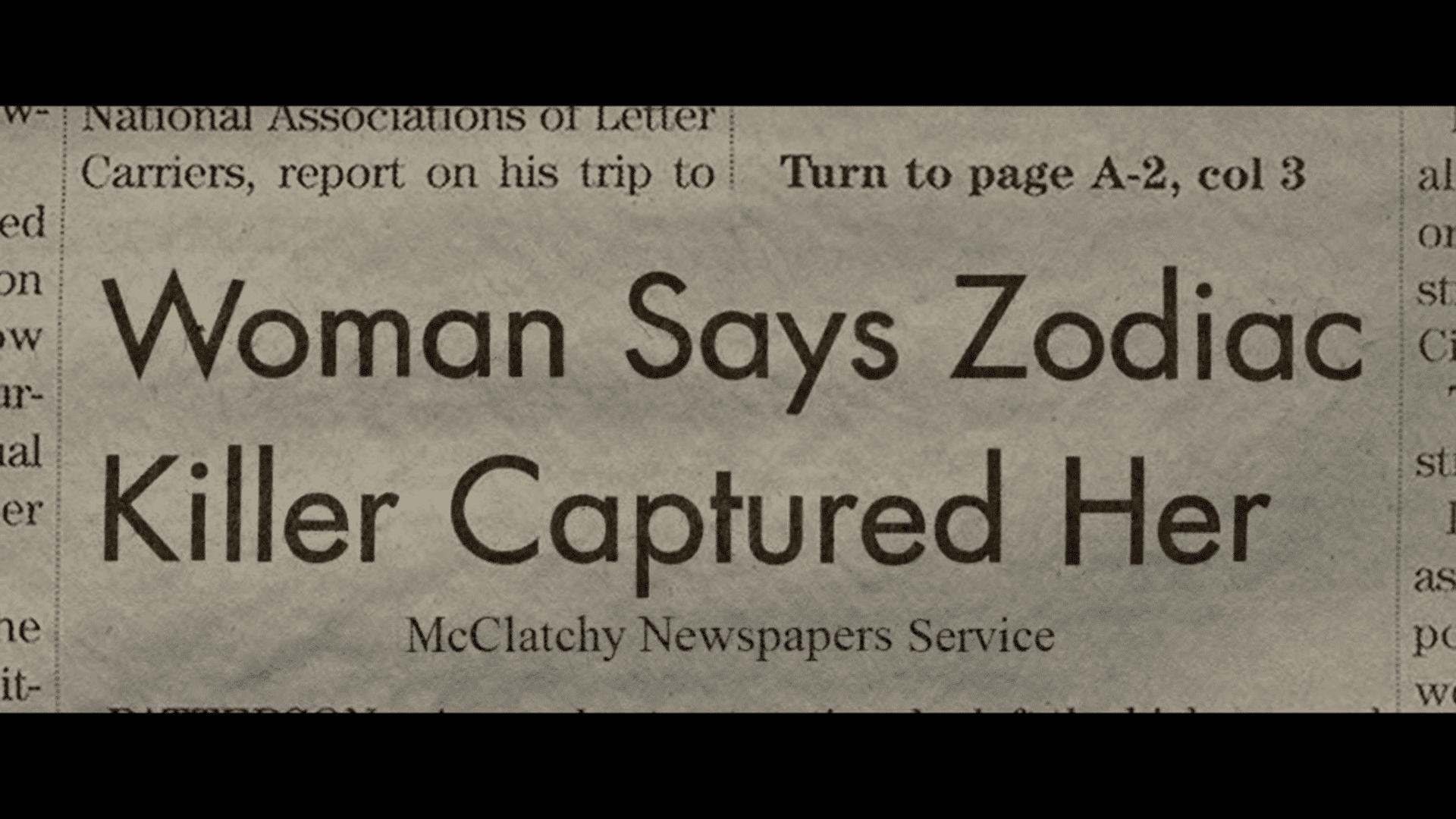 krantenartikel Zodiac