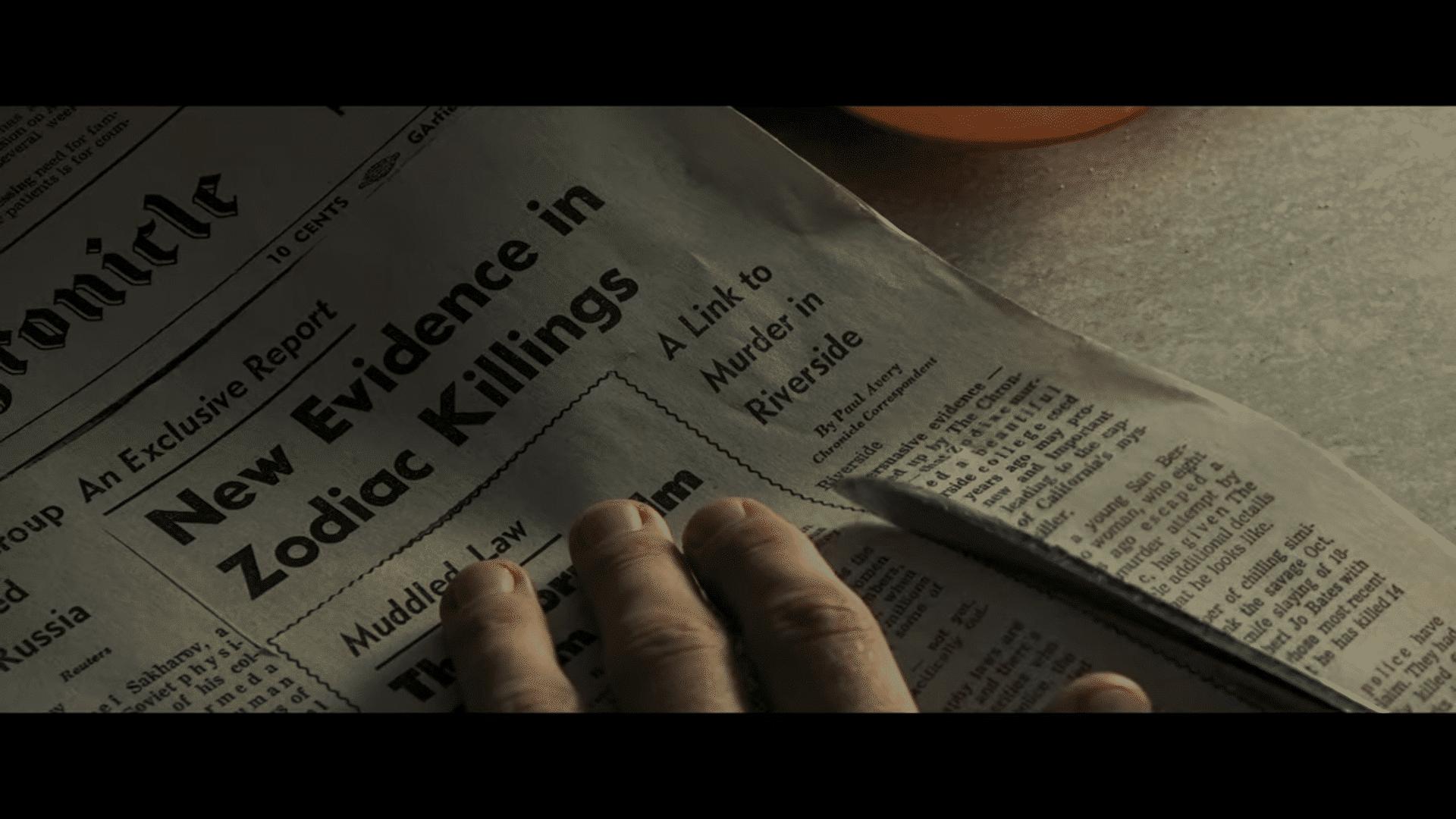 Zodiac krantenartikel