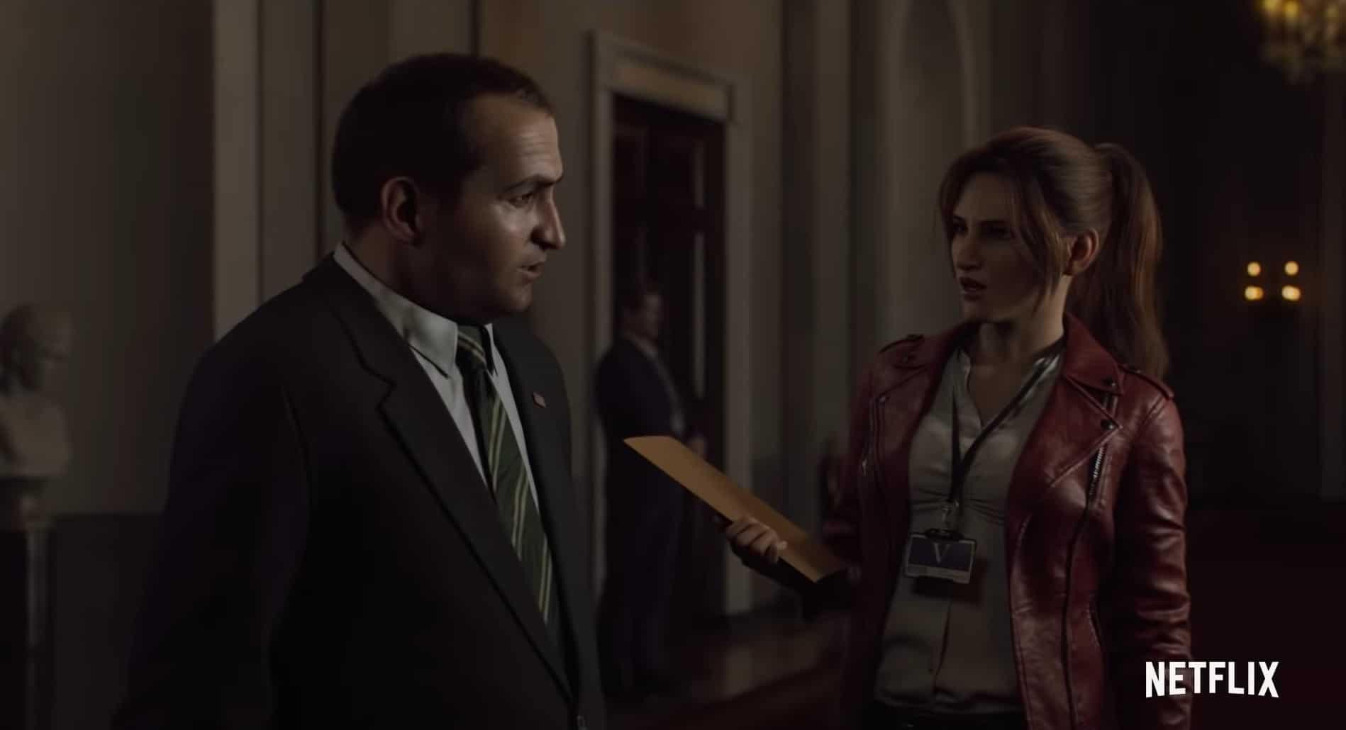 Claire Redfield probeert antwoorden te krijgen van het Witte Huis in de nieuwe Netflix serie Resident Evil: Infinite Darkness