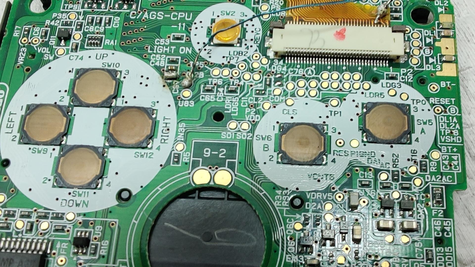 Game Boy SP Solderen