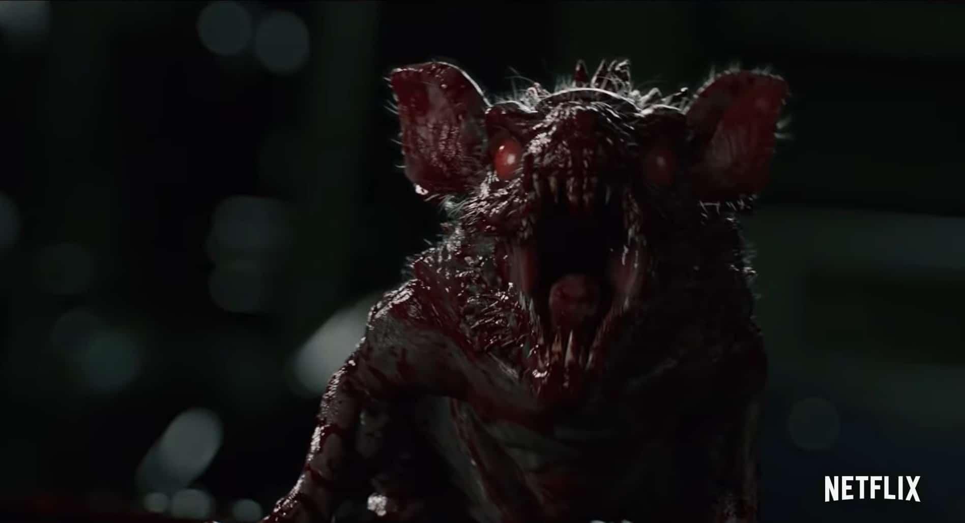 Een monster da tlijkt op een geïnfecteerde rat in de nieuwe Netflix serie Resident Evil: Infinite Darkness